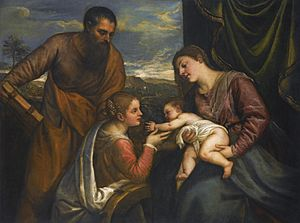 Titian, Sacra Conversazione, The Madonna and Child with Saints Luke and Catherine of Alexandria.jpg