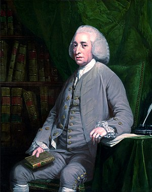 Tobias Smollett - Portrait of Tobias Smollett by Nathaniel Dance-Holland, ca. 1764.