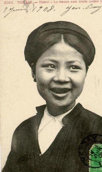 Tonkin (French protectorate) - Image: Tonkin woman