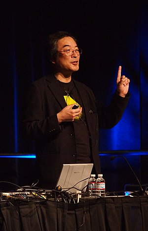 Toru Iwatani - Iwatani at the Game Developers Conference in 2011