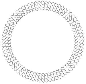 Torus knot - (36,3) torus link