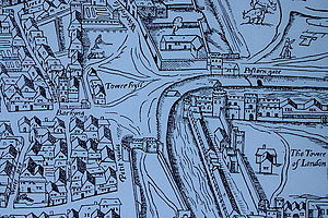 "Tower Hill - Tower Hill as shown on the ""Woodcut"" map of c. 1561"