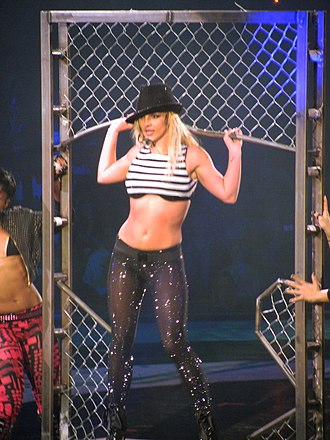 "The Circus Starring Britney Spears - Spears performing ""Toxic"" during the Electro Circ segment of the show in Boston."
