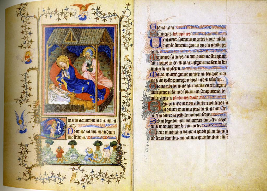 Très Belles Heures de Notre-Dame - NAL3093, f2v-3r - Nativité