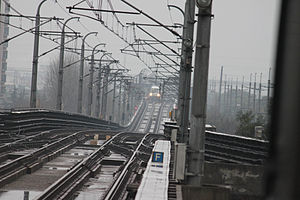 Tracks near Dongchuan Road Station.jpg