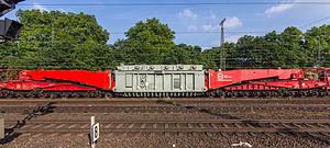 Tragschnabelwagen Uaai 839, HCS Heavy Cargo + Service, Trafo der Trafo-Union, Bahnhof Köln-West-9260.jpg