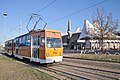 Tram in Sofia in front of Central Railway Station 2012 PD 062.jpg