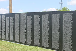 Vidalia, Louisiana - Traveling Vietnam War Memorial Wall while on display in Vidalia in June 2015