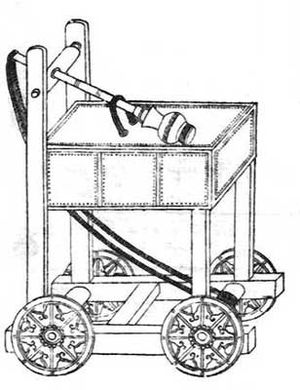 Military technology - An illustration of a trebuchet catapult, as described in the Wujing Zongyao of 1044.