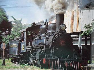Rail transport in El Salvador - FENADESAL steam engine in Apopa.