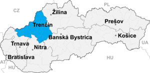 Partizánske District - Image: Trencin kraj