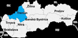 Partizánske District - Image: Trencin kraj