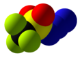 Trifluoromethanesulfonyl azide Space Fill.png