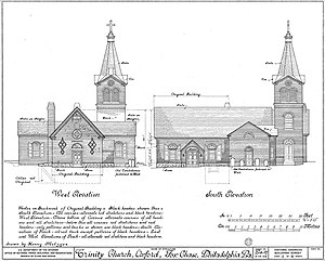 Old Trinity Church - HABS architectural drawing