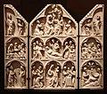 Trittico con scene della vita e morte delle vergine, parigi, 1280-1300 ca.jpg