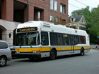 Trolleybus - Trolleybus in Cambridge, Massachusetts.