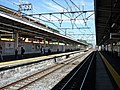 Tsurugashima Station platform 201806.jpg