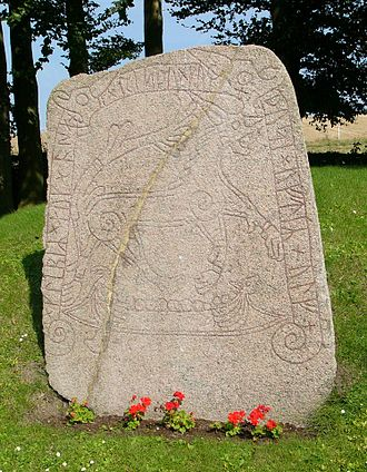 Naglfar - The Tullstorp Runestone in Scania, Sweden