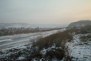 Tumen River - Image: Tumen River Winter