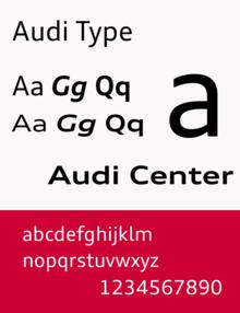 audi type шрифт