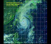 Le typhon Khanun