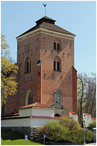 Tyresö Church - One of the towers of the church.