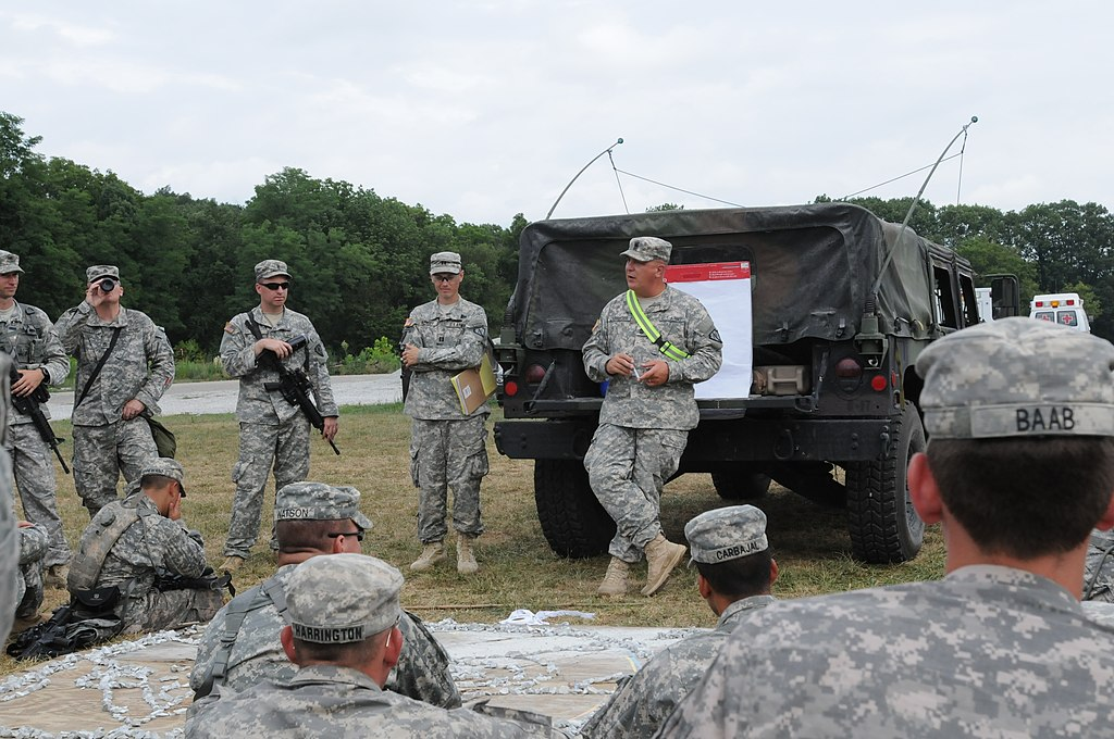 File:U.S. Army 1st Sgt. Robert Darringer, center right ...