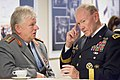 U.S. Army Gen. Martin E. Dempsey, right, chairman of the Joint Chiefs of Staff, speaks with German army Gen. Volker Wieker, chief of staff of the German Armed Forces, during a break from the NATO Chiefs of Defe 140521-D-HU462-200b.jpg