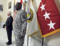 U.S. Secretary Robert M. Gates, left, prepares to promote Army Gen. Lloyd Austin III to four-star general before Austin assumes command of U.S. Forces-Iraq Sept 100901-F-DQ383-021.jpg