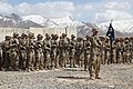 U.S. Soldiers with the 1st Battalion, 32nd Infantry Regiment, 3rd Brigade Combat Team, 10th Mountain Division attend an award ceremony at Forward Operating Base Sultan Kheyl, Wardak province, Afghanistan 140416-A-RU942-002.jpg