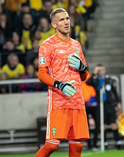 UEFA EURO qualifiers Sweden vs Spain 20191015 Robin Olsen 54.jpg