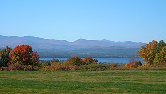 U.S. Route 7 - Westward view of Lake Champlain from US 7 in Charlotte, Vermont