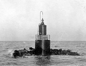 Pungoteague Creek Light - the 1908 caisson light (USCG)