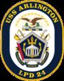 USS Arlington (LPD-24) crest.png