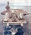USS Constellation (CVA-64) bow shot 1964-65.jpg
