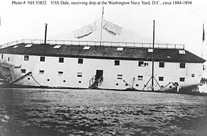 USS Dale (1839) - USS Dale as receiving ship Washington Naval Yard, Washington DC