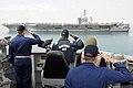 USS Jason Dunham ender honors to USS Dwight D. Eisenhower. (8598578032).jpg