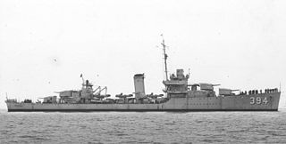 USS <i>Sampson</i> (DD-394) Somers-class destroyer
