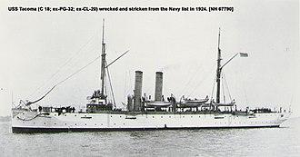 USS Tacoma (CL-20) - Image: USS Tacoma (CL 20)