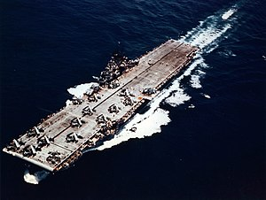 Essex-class aircraft carrier - Yorktown at sea in 1943