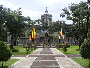 The Amazing Race Philippines 1 - The first Pit Stop of The Amazing Race Philippines took place at University of Santo Tomas in Manila.