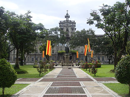 The University of Santo Tomas is the oldest existing university in Asia, established in 1611. UST-gardensjf.JPG