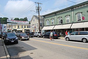 Mystic, Connecticut - Main Street, downtown Mystic