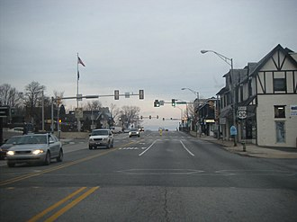 U.S. Route 30 in Pennsylvania - Eastbound US 30 in Paoli.