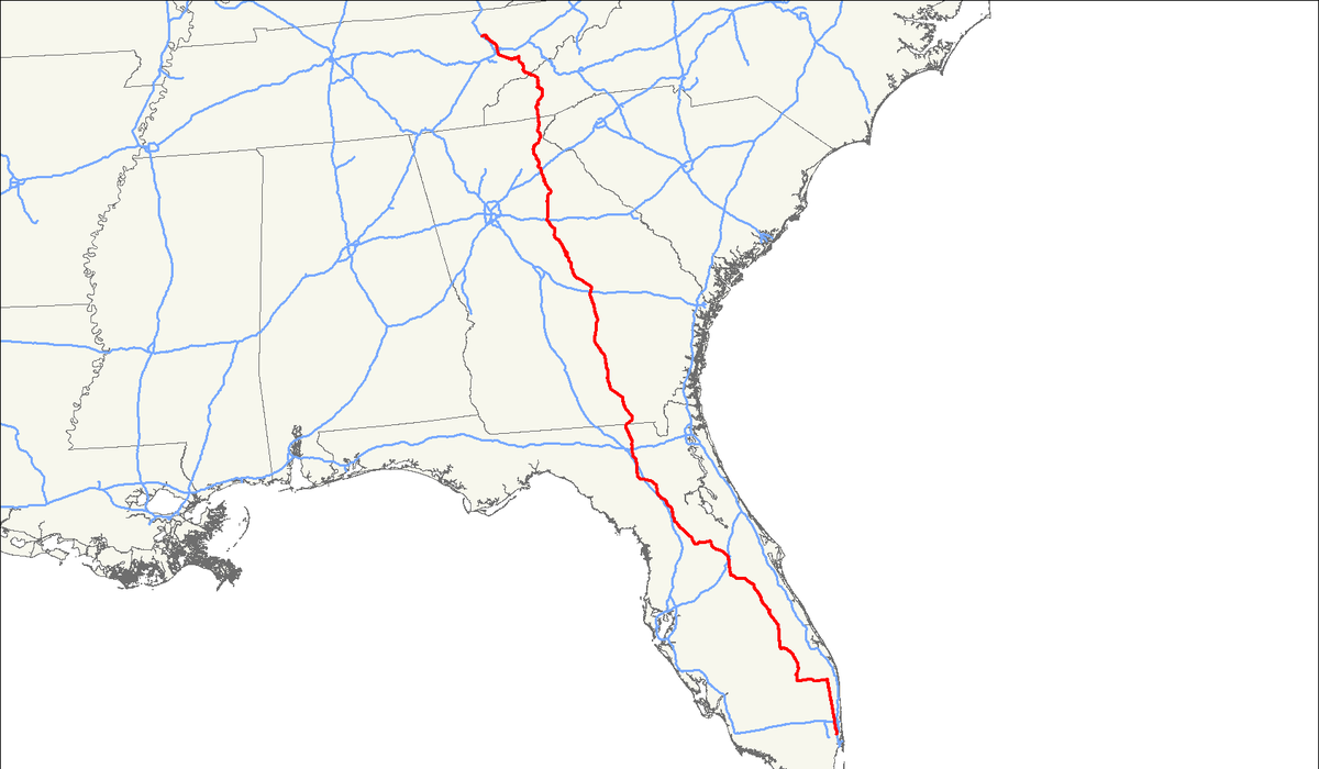 US Route Wikipedia - Georgia map us