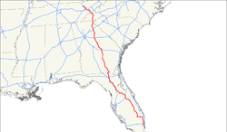 US Highway   Wikipedia - Us 441 map