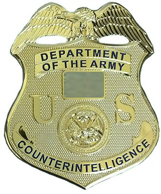 Identification badges of the Uniform Services of the United States - Image: US ARMY CI BADGE