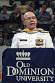 US Navy 040508-N-2383B-122 Adm. Vern Clark, Chief of Naval Operations (CNO) makes remarks as the invited guest speaker of the 100th Commencement Exercise at Old Dominion University (ODU).jpg