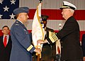 US Navy 041105-F-0389H-003 Adm. Timothy J. Keating, right, accepts command of North American Aerospace Defense Command (NORAD) from Chief of the Defence Staff, Canadian Gen. Ray R. Henault.jpg