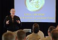 US Navy 050524-N-0962S-164 Chief of Naval Operations Adm. Vern Clark offers opening remarks to fleet, force, and CNO-directed Command Master Chiefs during the Spring 2005 Senior Enlisted Leadership Forum.jpg